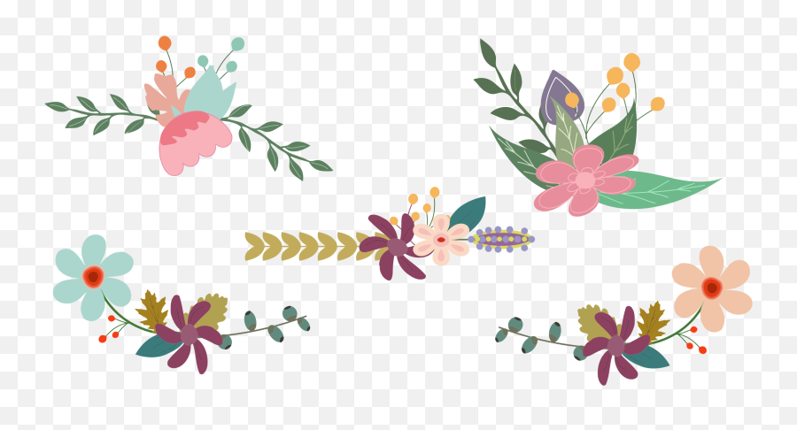 Library Of Vintage Flower Banner Png