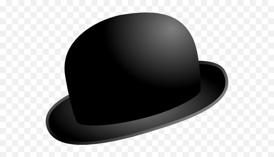 Free Beanie Hat Png Download Clip - Black Bowler Hat Cartoon