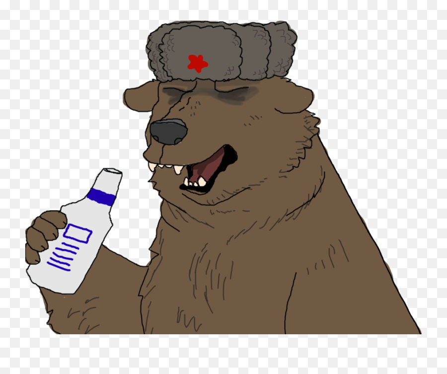 Russian Bear With Ushanka Png Image - Bear With Ushanka