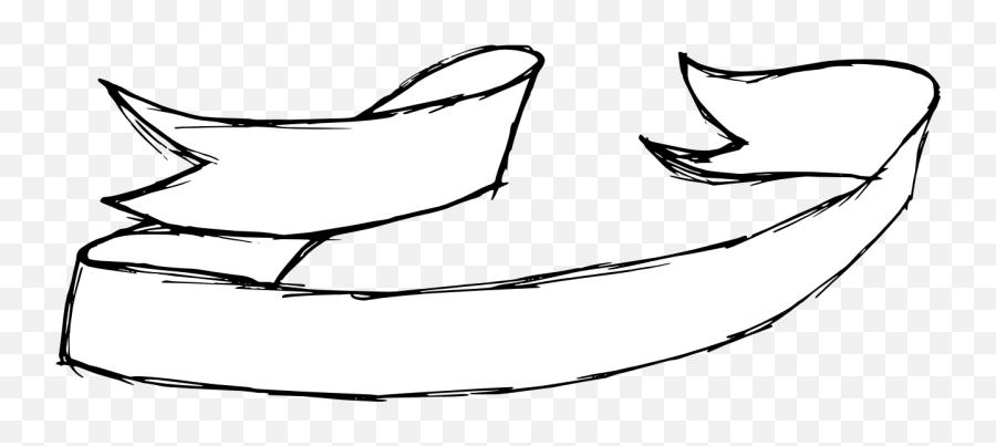 9 Hand Drawn Banner Ribbon Png Transparent Onlygfxcom - Lovely,Black Ribbon Banner Png