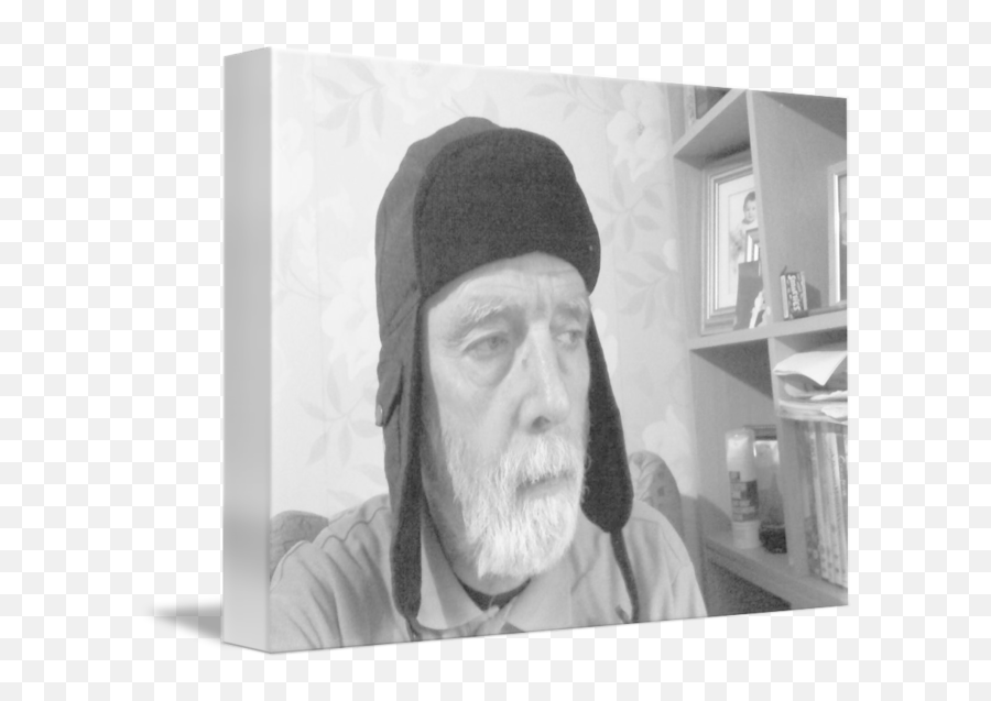 Man In Russian Hat Bw By Terry Collett - Human png
