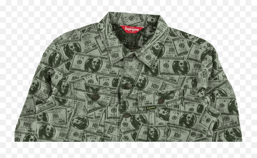 Download Supreme 100 Dollar Bill Trucker Jacket Full Size Supreme 100 Dollar Bill Trucker Jacket Png Free Transparent Png Images Pngaaa Com