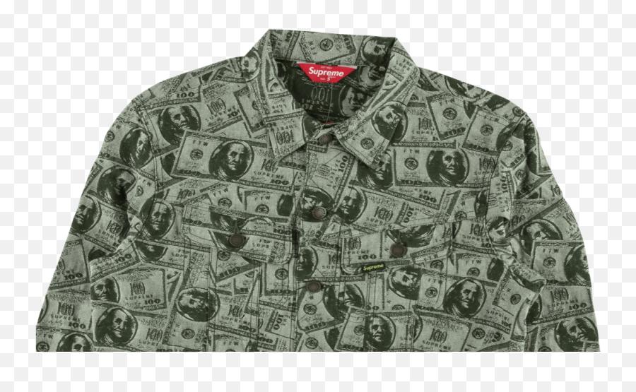Download Supreme 100 Dollar Bill Trucker Jacket Full Size Supreme 100 Dollar Bill Trucker Jacket Png Free Transparent Png Images Pngaaa Com