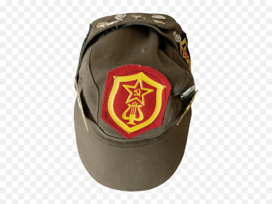 Russian Military Brown Cap With Patches And Pins - Russian Tank png