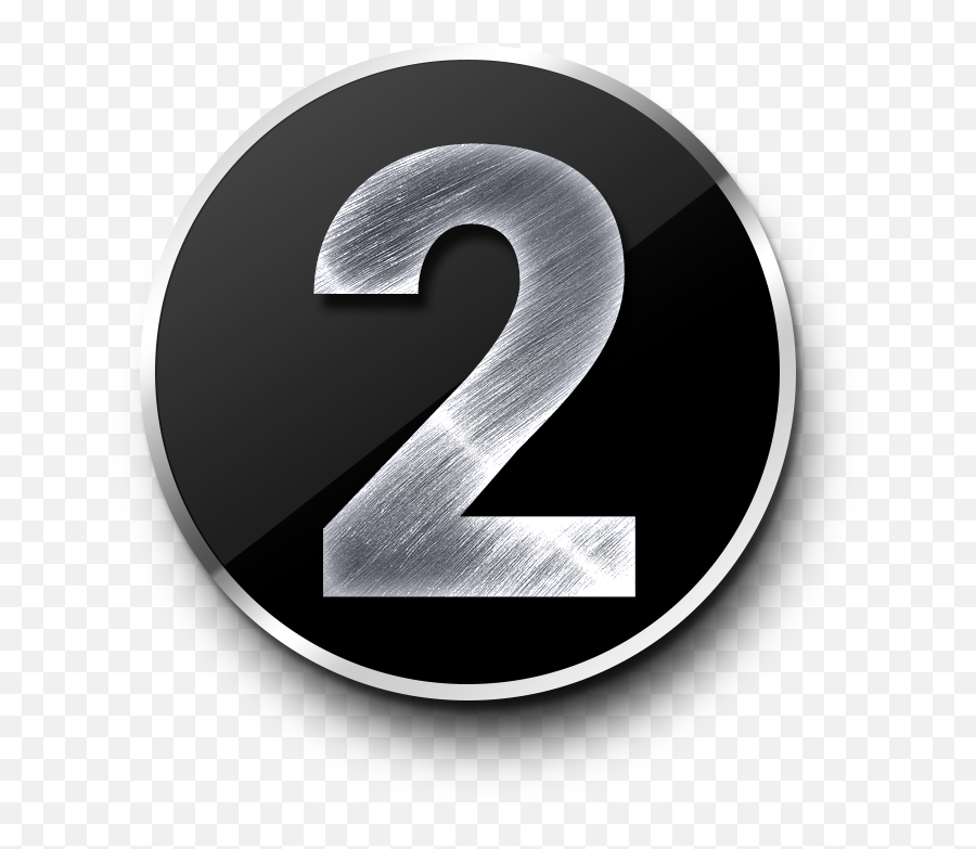 Number 2 Png Image Icon Free - Transparent Number 1 2 3,Silver Png - free  transparent png images - pngaaa.com