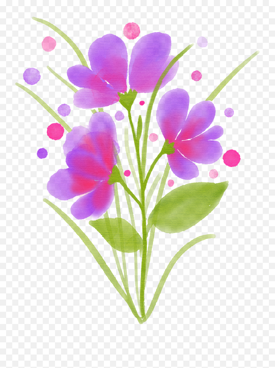 Watercolor Flower Watercolour - Free Image On Pixabay Png,Watercolor Flower Png