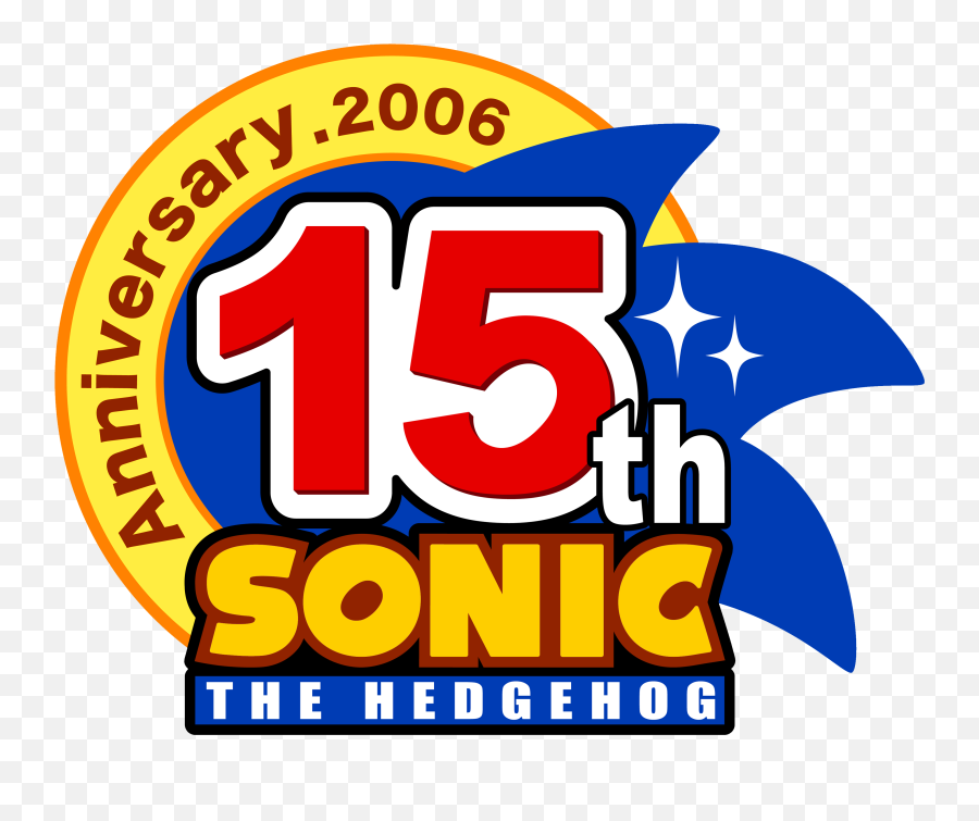 Sonic 15th Anniversary - Sonic The Hedgehog 15th Anniversary Png,Sonic The Hedgehog Logo
