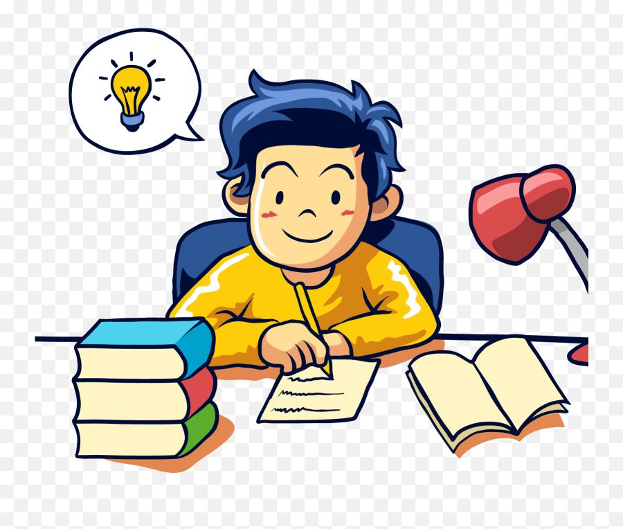 clipart of student doing homework
