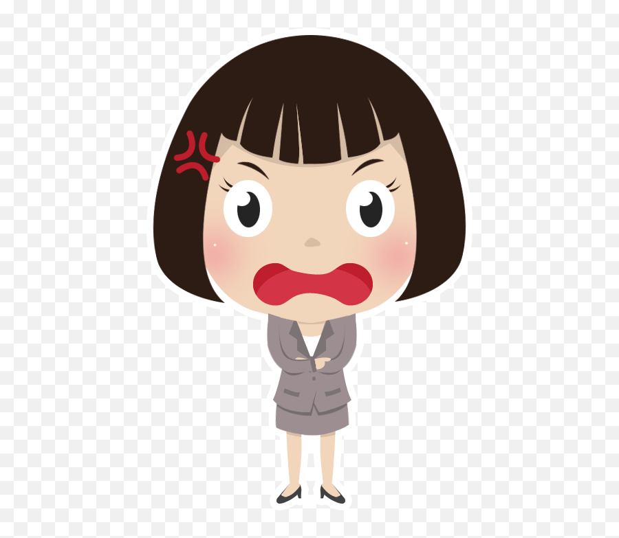 Download Hd Free Angry Girl People High Girl Sad Cartoon Png Free Transparent Png Images Pngaaa Com