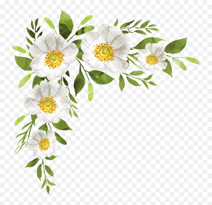 Watercolor Flower Bouquet - Transparent White Watercolor Png,Watercolor Flower Png