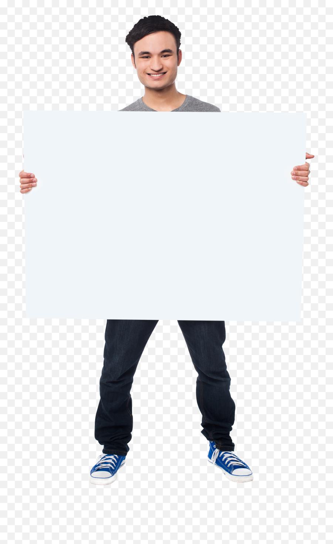 Men Holding Banner Png Images Transparent Background Play - Men Banner Png