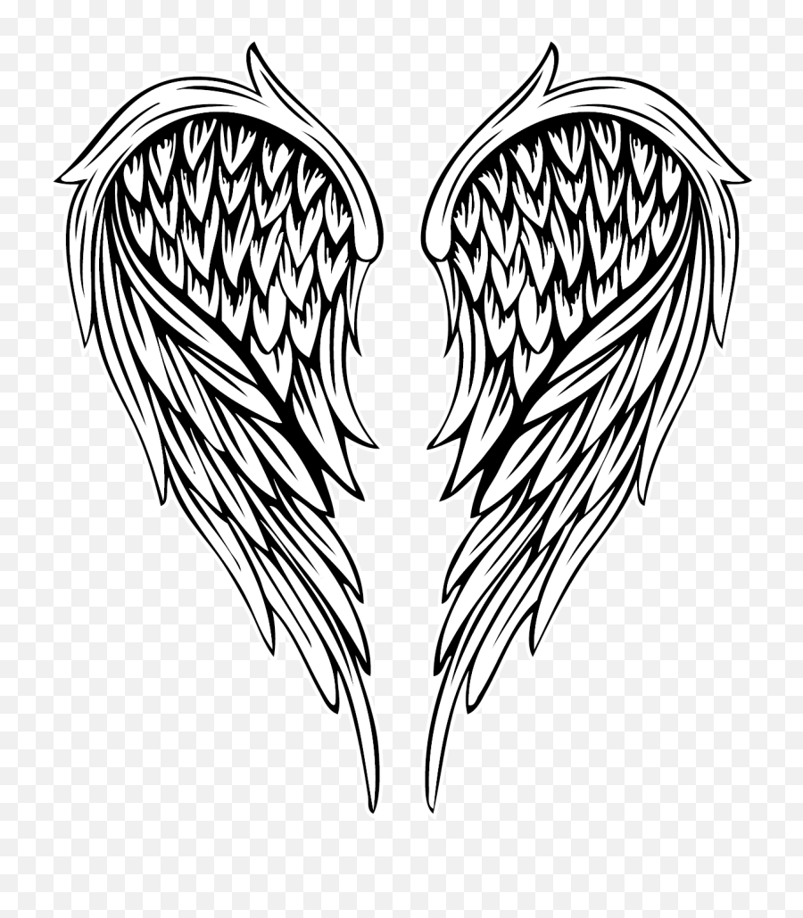 Archangel Drawing Free Download - Tattoo Drawing Angel Wings png