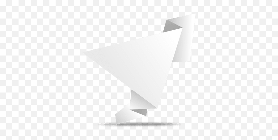 Folded Origami Triangle Banner - Triangle Png,Triangle Banner Png