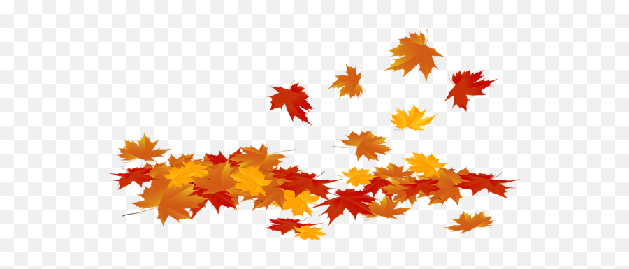 Fallen Autumn Leaves Png Clip Art Image - Transparent Background Fall Leaves Clipart,Leaves Png