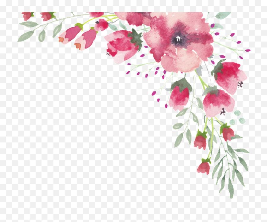 Watercolor Flowers Png Border Transparent Cartoon - Jingfm Watercolor Flower Border Transparent Background,Watercolor Flower Png