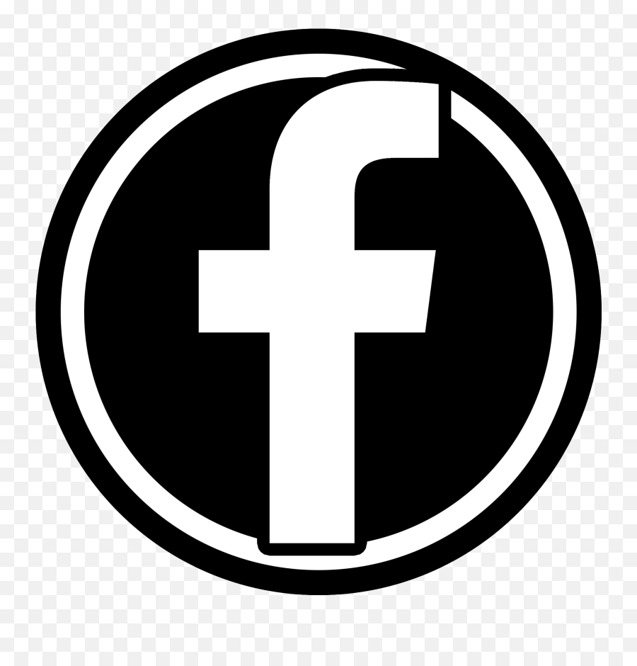 And black white icon png facebook HD Facebook