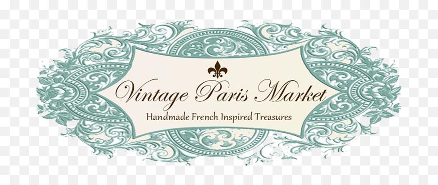 Vintage Paris Market Banner Png - Calligraphy,Vintage Banner Png