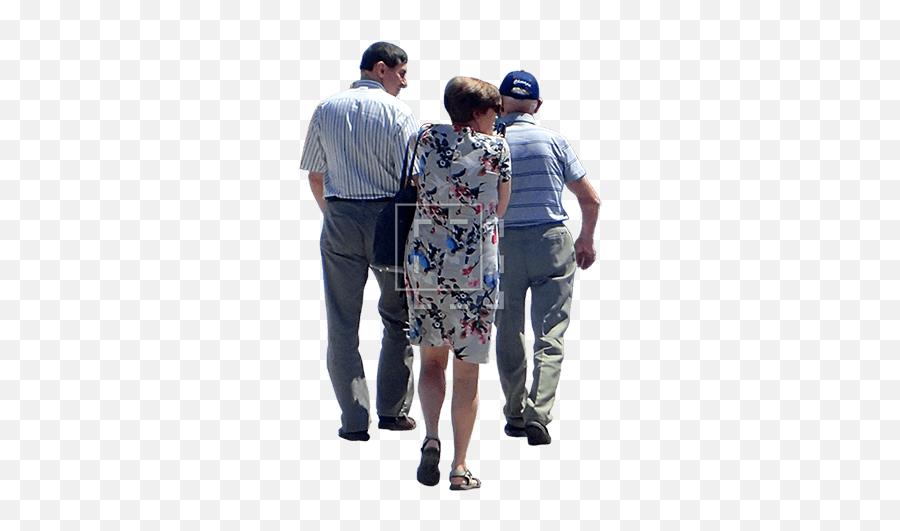 Three People Walking - People On Bridge Png,People Looking Png