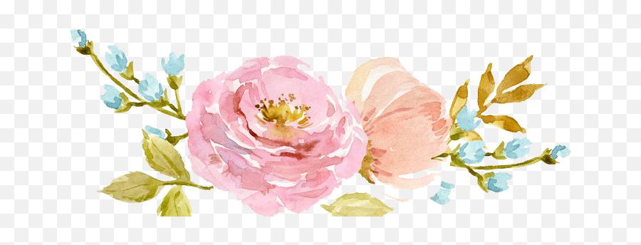 Watercolor Flowers Png Transparent 1 - Transparent Flower Watercolor Png,Watercolor Flowers Transparent Background