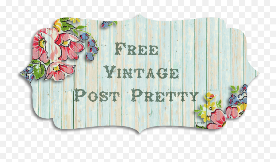 Free Vintage Post Banner - Free Shabby Chic Banners To Download Png,Wood Banner Png