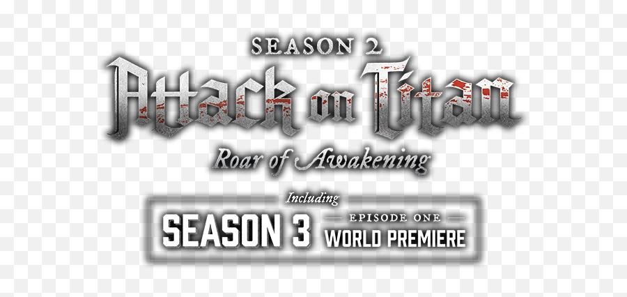 Attack - Attack On Titan Season 3 World Premiere png