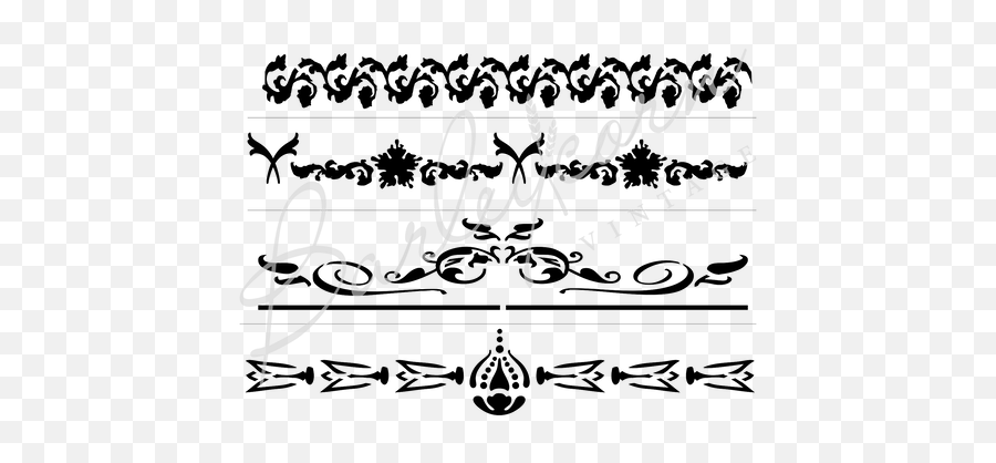 Large Vintage Decorative Borders And Banners Stencil - Clip Art Png,Decorative Borders Png