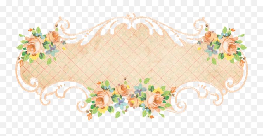 Vintage Freebie With Keren 5 Gorgeous Scrolly Floral - Vintage Floral Banner Png,Vintage Banner Png