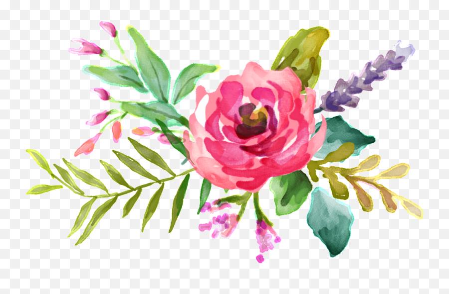 Download Pink Watercolor Flower Bouquet - Vector Pink Watercolor Flowers Png,Water Color Flower Png