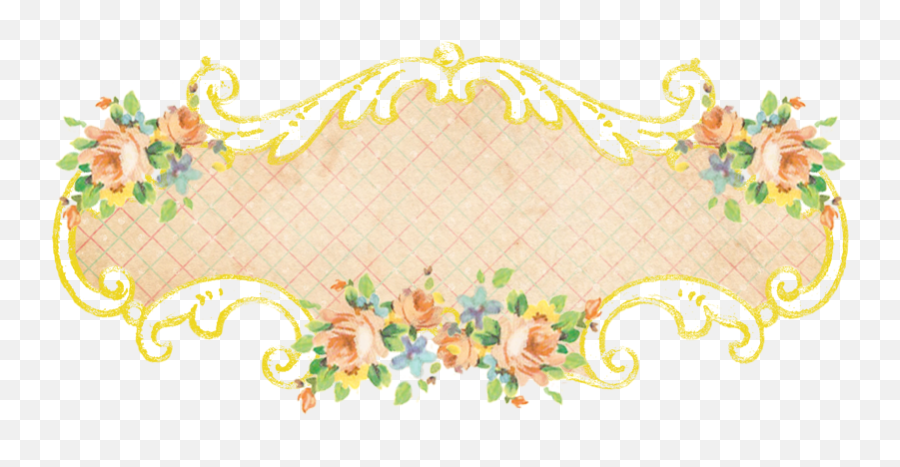 Shabby Blogs Vintage Freebie With Keren 5 Gorgeous Scrolly - Motif Png,Vintage Banner Png