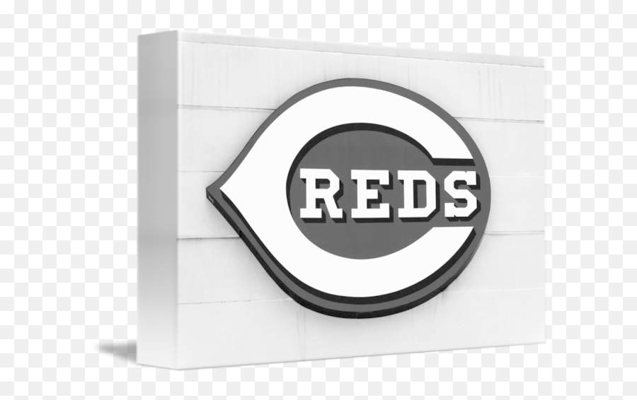 Cincinnati Reds Sign In Black And White By Paul Velgos - Cincinnati Reds Png,Cincinnati Reds Logo Png