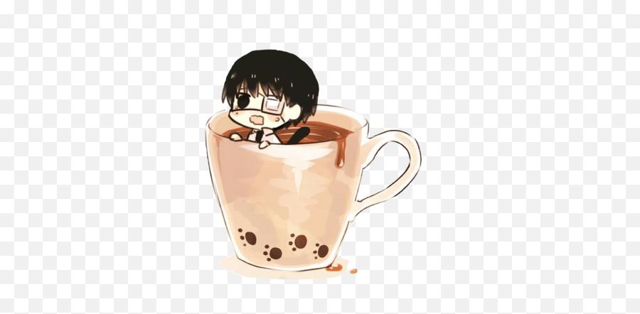 Coffee Kaneki - Chibi Anime Drinking Coffee Png,Kaneki Transparent