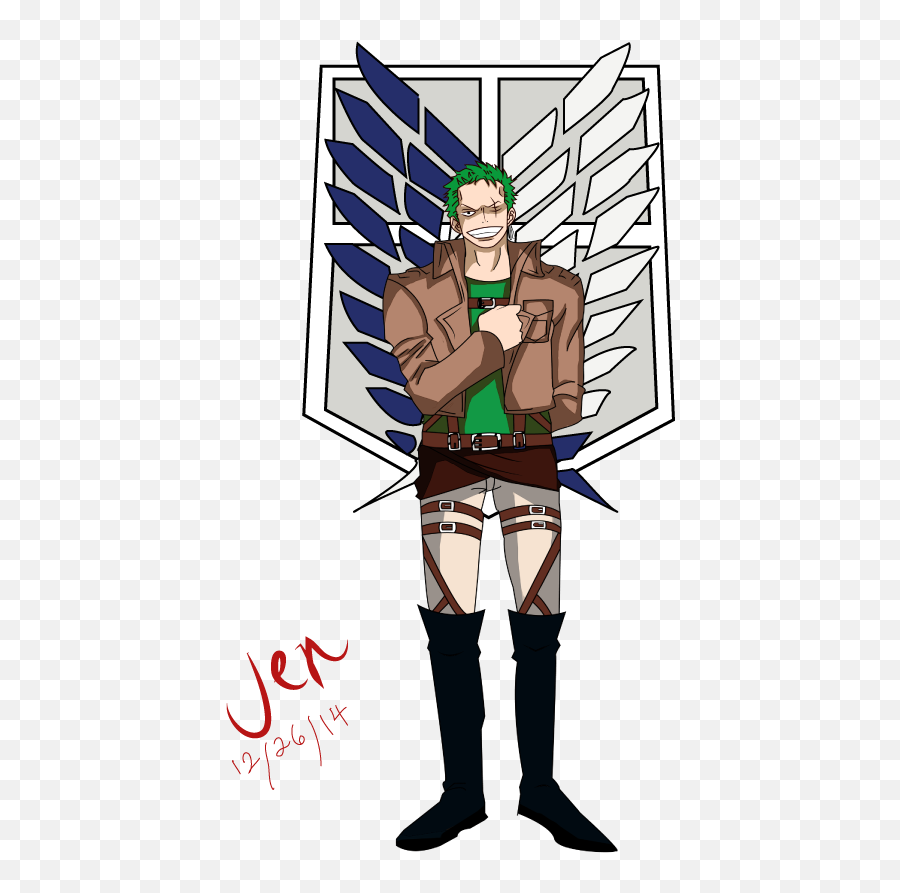 Download Zoro As A Member Of The Survey - Survey Corps Attack On Titan png