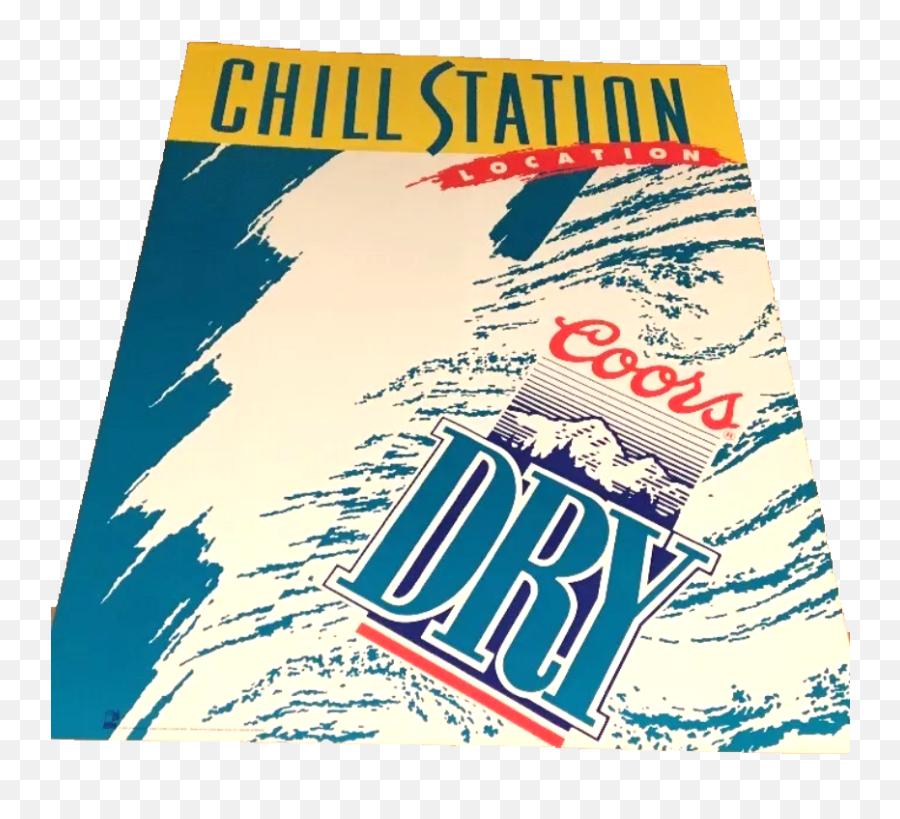 Coors Dry U201cchill Stationu201d Vintage Poster Banner - Coors Light Png,Vintage Banner Png
