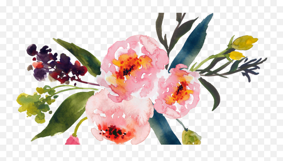 Water Colour Flower Png 18 - Watercolor Transparent Floral Backgrounds,Water Color Flower Png