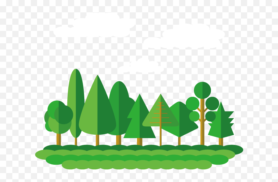 Flat Design Forest Tree - Tree Flat Design Png,The Forest Png