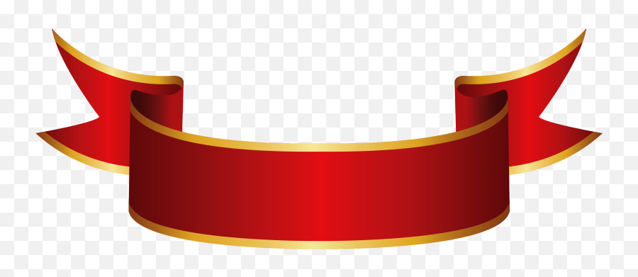 Red Banner Png Clipart Image - Ribbon Png,Red Banner Png