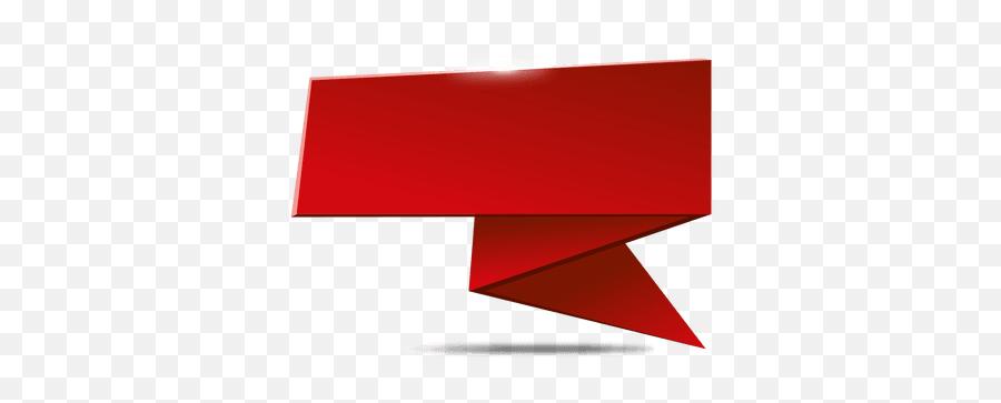 Transparent Png Svg Vector File - Red Origami Banner Png,Red Banner Png