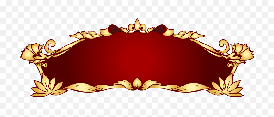Transparent Red Deco Banner Png Picture - Banner Clipart Png,Red Banner Png