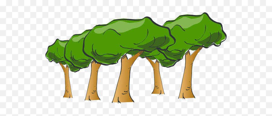 Cartoon Forest Png Image - Tree Clipart Transparent Background,The Forest Png