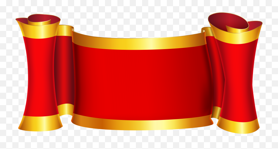 Red Gold Banner Png Clip Art Image - Ribbon Red Gold Png