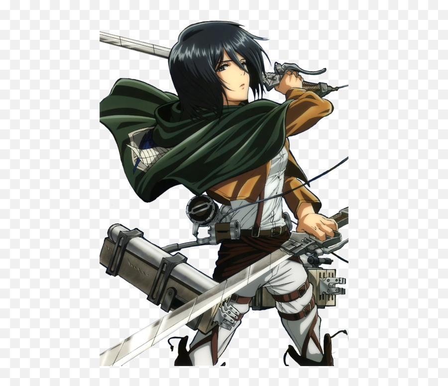 Anime Mikasa And Attack Attack On Titan Mikasa Ackerman Transparent Background Png Free Transparent Png Images Pngaaa Com