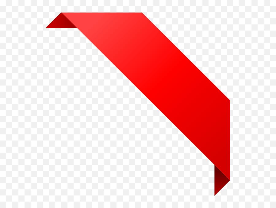 Free Red Corner Ribbon Clip Art - Corner Red Ribbon Png,Red Banner Png
