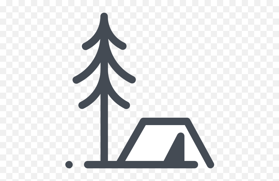 Tent In The Forest Icon - Transparent Forest Outline Png,The Forest Png