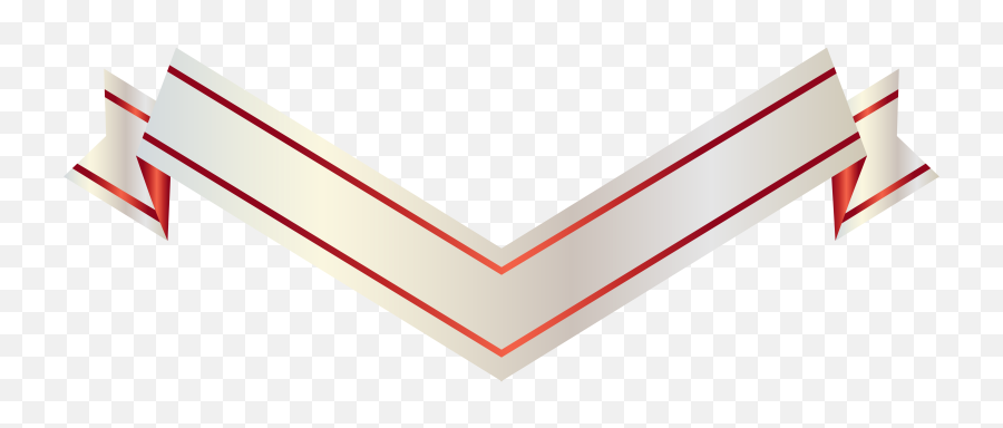 Straight Banner Png - White And Red Banner Ribbon Png,Red Banner Png