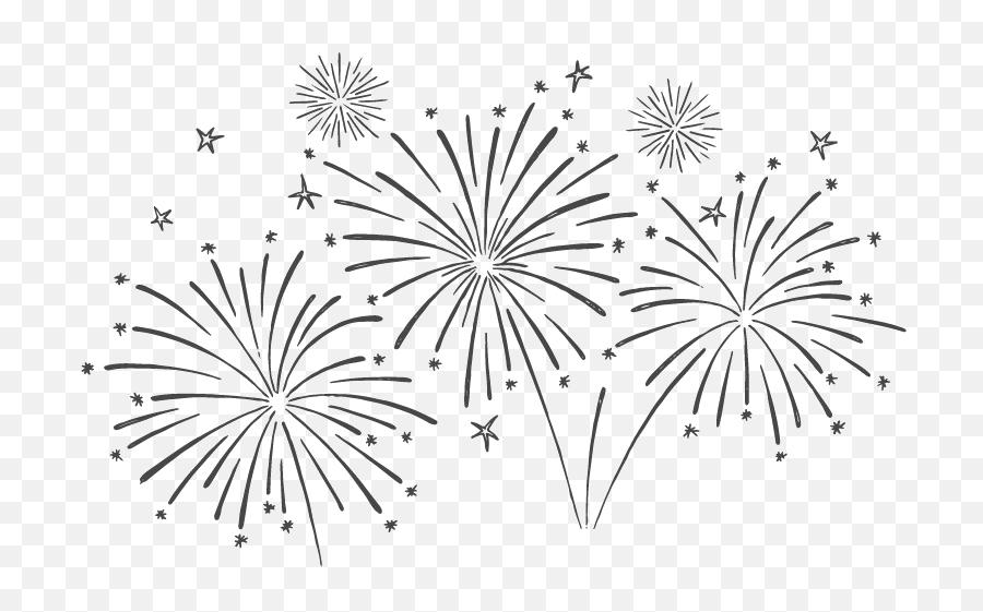 Fireworks Celebration Png Pic - Fireworks Black And White Png