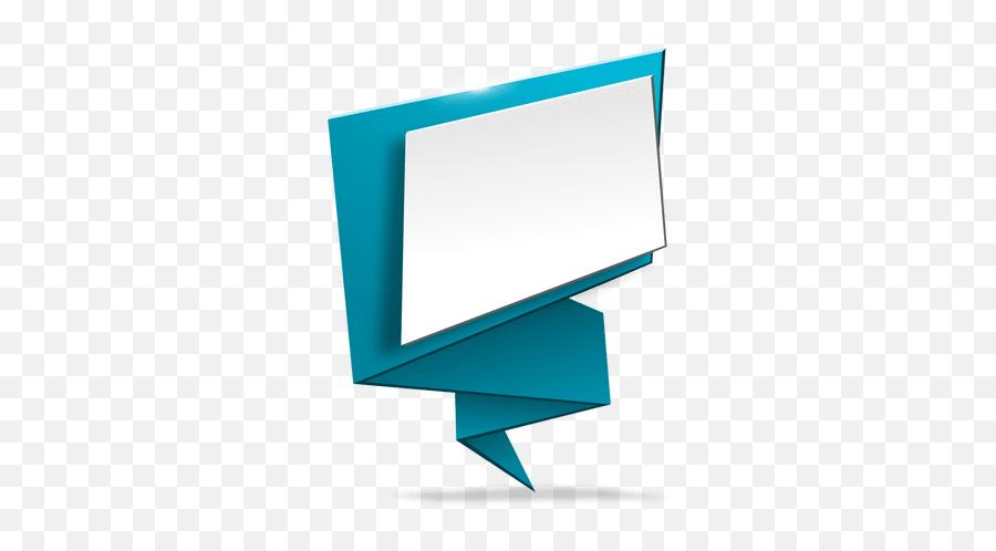 Blue Origami Banner White Space - Transparent PNG u0026 SVG  Vector Banner Design Png