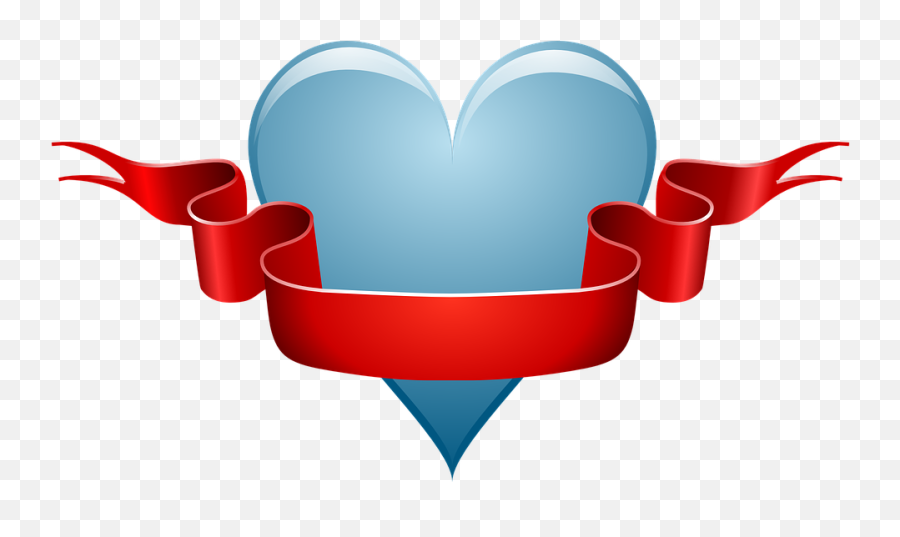 Heart Love Ribbon - Good Morning Sister I Love You Png,Red Banner Png