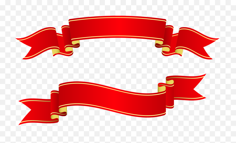 Download Free Png Banner Ribbon Red Banners - DLPNGcom  Christmas Banner Ribbon Png