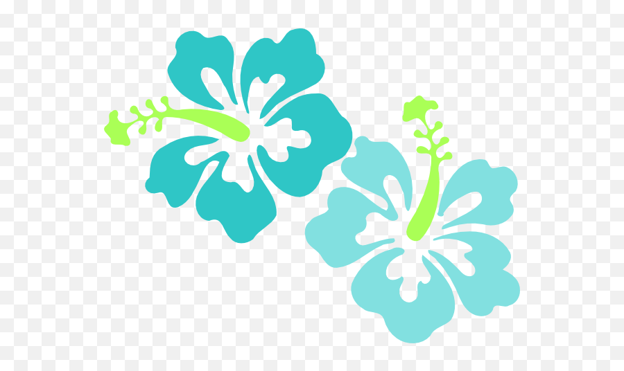 Coral Hibiscus Flower Clipart - Hawaiian Flower Vector Png