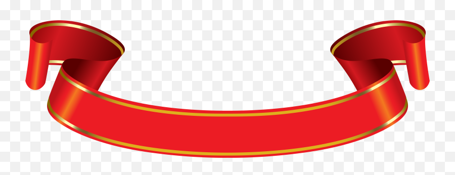 Download Banner Png Red Gold - Ribbon Banner Png Red Gold
